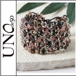 NWOT ( UNOde50 ) Beaded and Leather Bracelet
